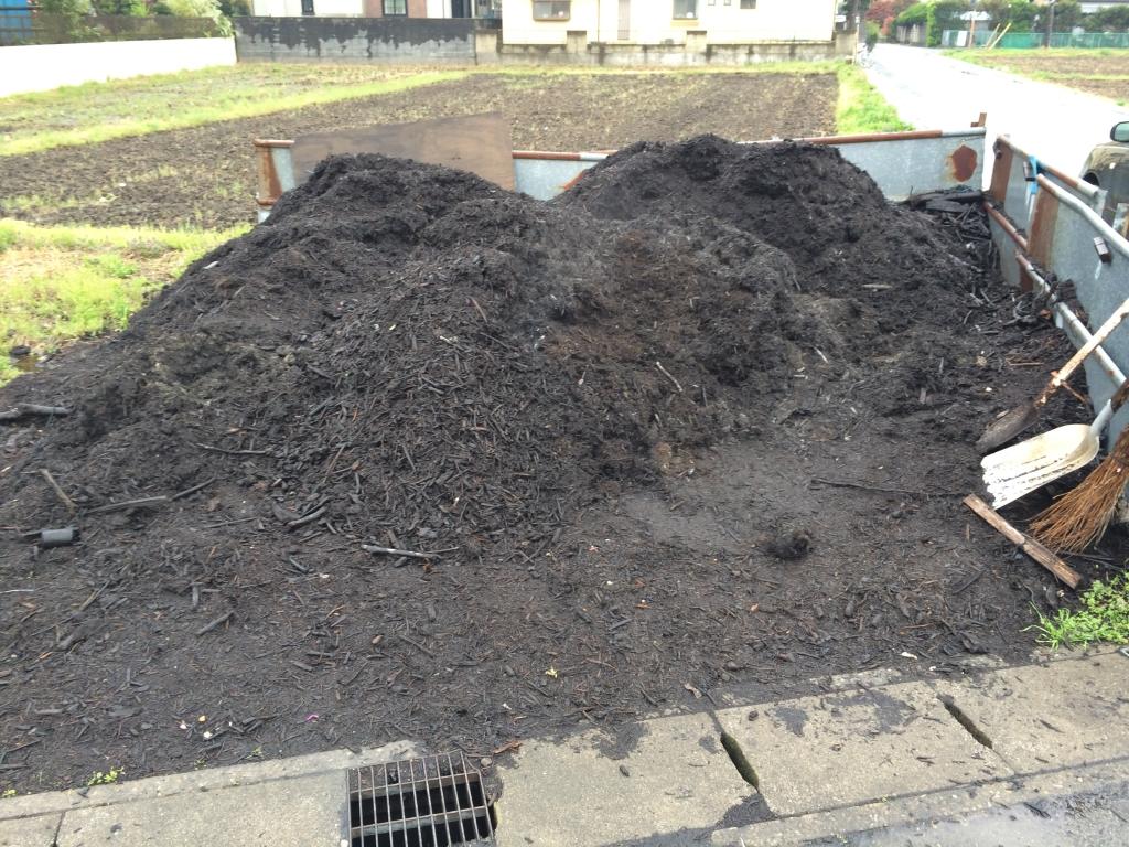 無料堆肥の配布所